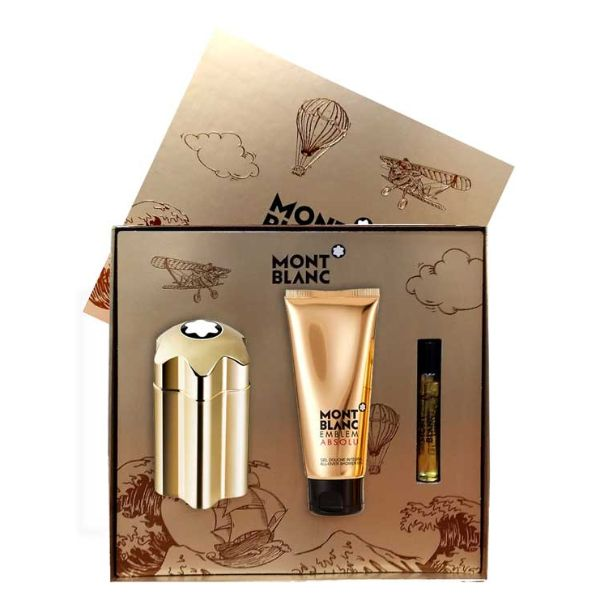 Mont Blanc Emblem Absolu M Set - EDT 100 ml + EDT 7.5 ml + shower gel 100 ml