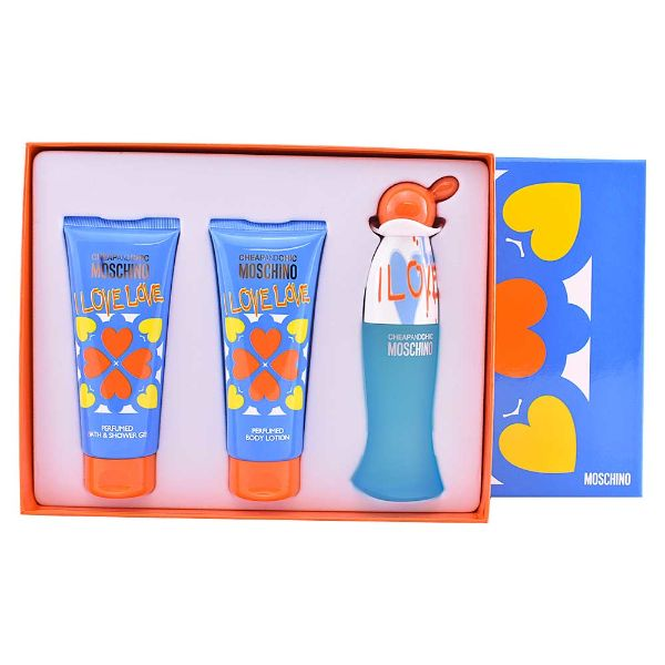Moschino I Love Love W Set - EDT 50 ml + b/lot 100 ml + shower gel 100 ml