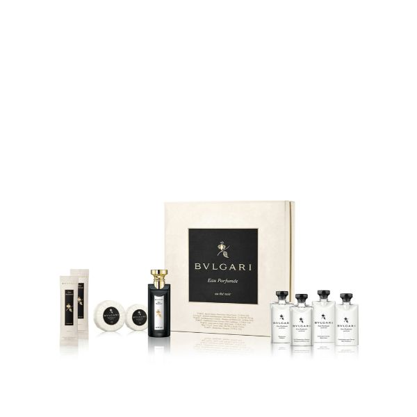 Bvlgari Au The Noir U Set - EdC 75 + body lotion, shower gel, shamp. Condit all 75 ml + soap 75 g + 2 refreshing towels