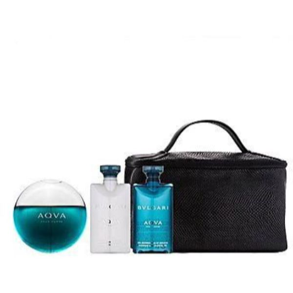 Bvlgari Aqva M Set / EDT 100ml / after shave balm 75ml / shower gel 75ml / pouch