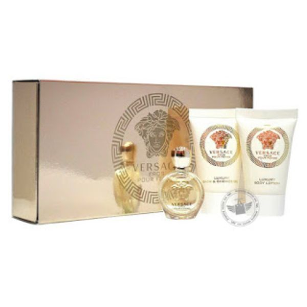 Versace Eros W mini Set / EDP 5ml / body lotion 25ml / shower gel 25ml