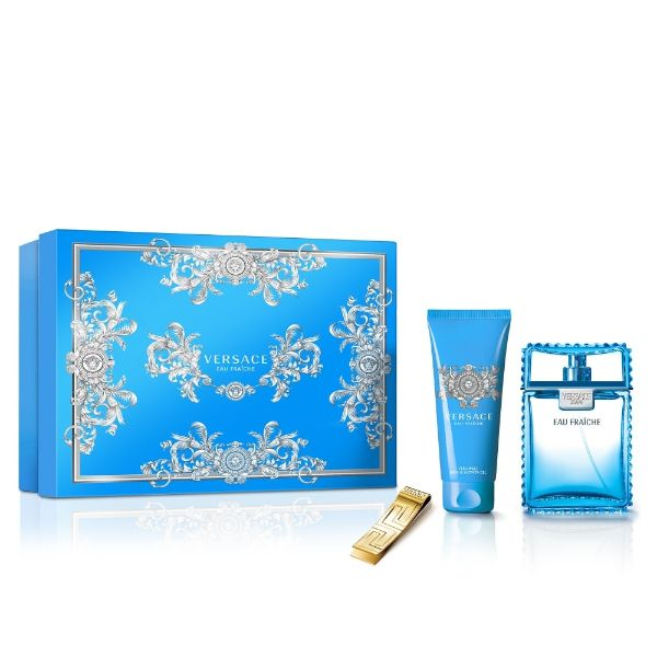 Versace Man Eau Fraiche M Set - EDT 100 ml + sh/gel 100 ml + money clip