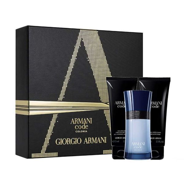 Armani Code M Set - EDT 75 ml + a/s balm 75 ml + sh/gel 75 ml