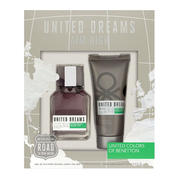 Benetton United Dreams Aim High M Set / EDT 100ml / after shave balm 100ml